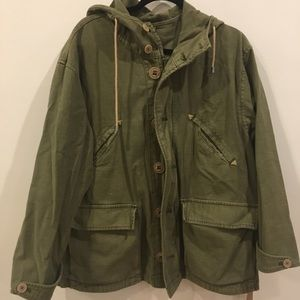 Free People Army Green Jacket